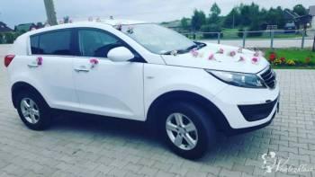 Wynajmę auto do ślubu *Biała* Kia Sportage, Samochód, auto do ślubu, limuzyna Daleszyce