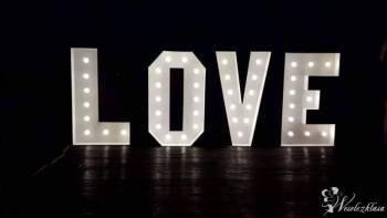 Podświetlany napis LOVE 120 cm x 400 cm retro!, Napis Love Sława
