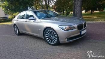 Auto do ślubu Złote BMW 740 XDRIVE F01 , Samochód, auto do ślubu, limuzyna Glinojeck