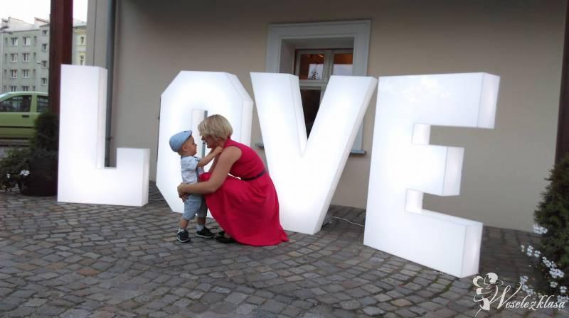 Świecące litery LOVE na Twoim weselu lub sesji zdj, Racibórz - zdjęcie 1