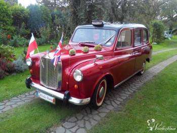 Taksówka *Londyńska* do ślubu, Samochód, auto do ślubu, limuzyna Września