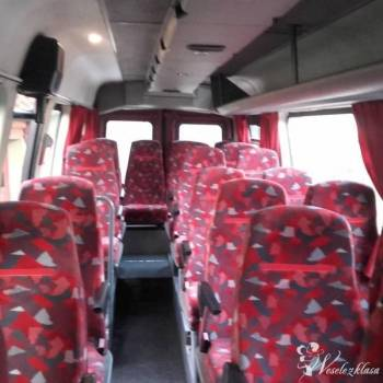 Transport Gości Weselnych . Bus 22 osobowy, autokar 55 osoby, Wynajem busów Dobrodzień