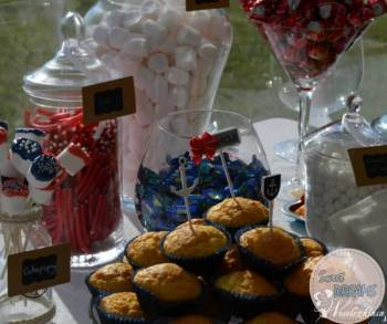 Candy bar / słodki stół Sweet Dreams, Słodki kącik na weselu Miłomłyn