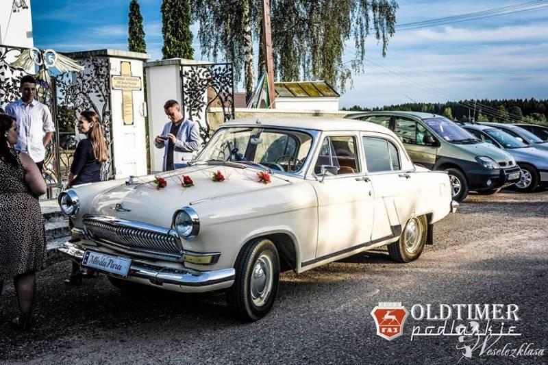 Oldtimer, auto zabytkowe, samochód do ślubu mercedes w110, wołga gaz21, Augustów - zdjęcie 1