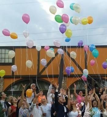 Balony na helu led i kolor, Balony, bańki mydlane Pogorzela