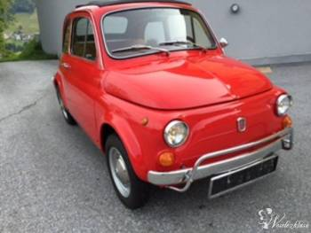 Fiat 500 Klasyczny Samochód do ślubu, Samochód, auto do ślubu, limuzyna Ślesin