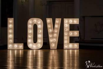 Napis litery LOVE podświetlany świecący, Napis Love Bielsko-Biała