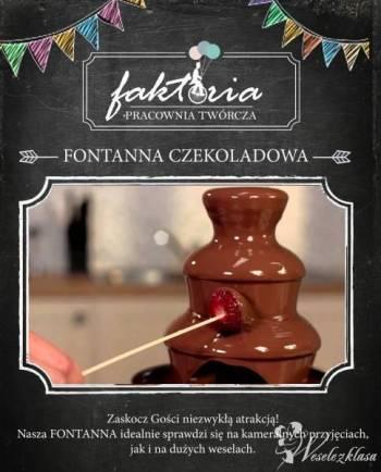 Fontanna czekoladowa na wesela i przyjęcia - Fakto, Czekoladowa fontanna Recz