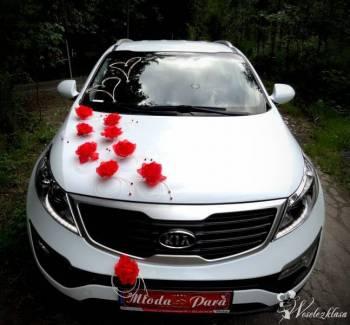 Biał Kia Sportage do Ślubu, Samochód, auto do ślubu, limuzyna Biskupiec