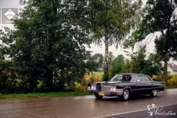 Zjawiskowy czarny Cadillac Deville 1969, Samochód, auto do ślubu, limuzyna Leżajsk