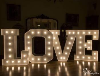 Napis LOVE wynajem ślub, wesele, sesja zdjęciowa, Napis Love Warka