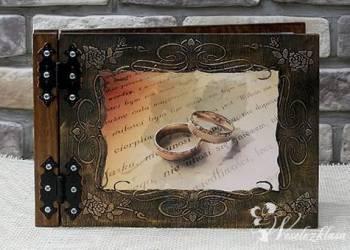 Albumy do zdjęć drewniane, Księgi Gości, Artykuły ślubne Trzcianka