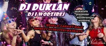 DJ+Wodzirej Duklan. Muzyka na zywo, oświetlenie sali. Atrakcyjne ceny., DJ na wesele Lipsko