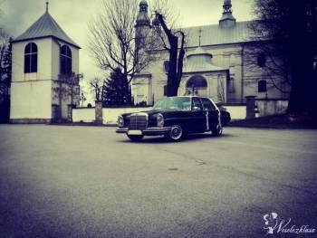 Zabytkowy samochód do ślubu Mercedes w108 z 1966 roku, Samochód, auto do ślubu, limuzyna Daleszyce