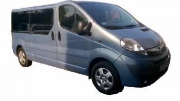 Opel Vivaro 9 os transfery, imprezy okolicznościowe, śluby, Wynajem busów Krzeszowice