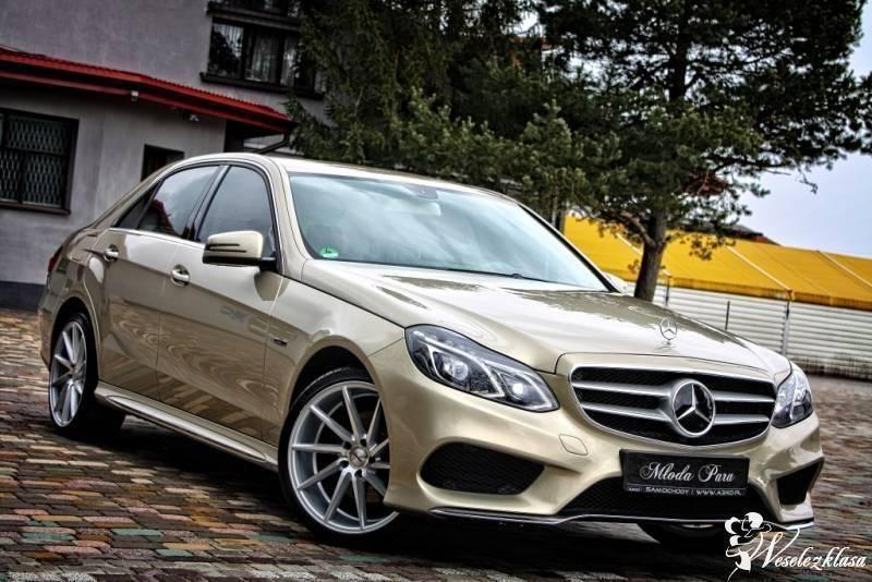 Mercedes E-klasa AMG, elegancki złoty metalik, Częstochowa - zdjęcie 1
