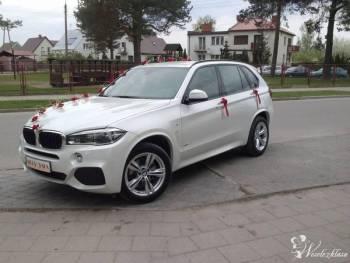 Białą Perłą do ślubu BMW X5, Samochód, auto do ślubu, limuzyna Szczuczyn