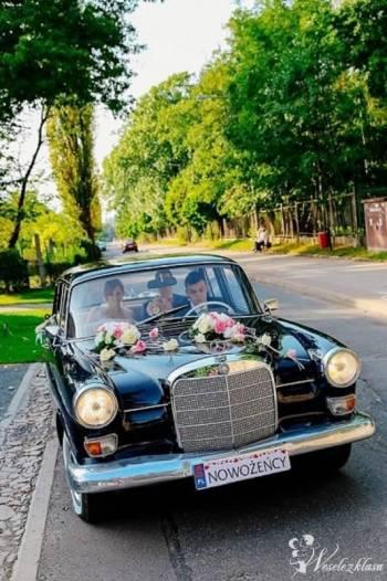Klasyczny Mercedes do ślubu. Wynajem auta z kierowcą na imprezy okol., Samochód, auto do ślubu, limuzyna Oborniki Śląskie