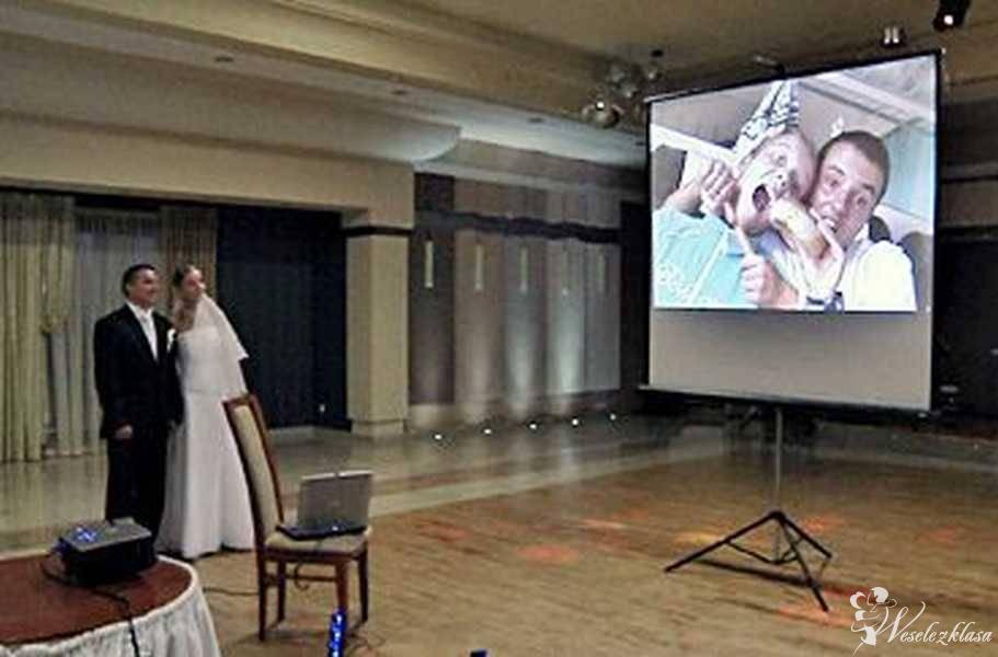 Wynajmę / wypożyczę projektor z ekranem projekcyjnym, Grodzisk Wielkopolski - zdjęcie 1