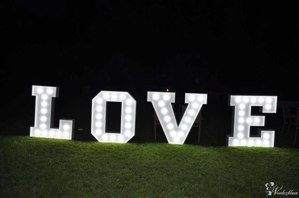 Świecący napis LOVE, Warszawa - zdjęcie 1