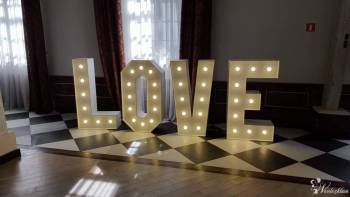 Napis LOVE oraz  MIŁOŚĆ - CYFRY led: 1,18, 60..., Napis Love Zielona Góra
