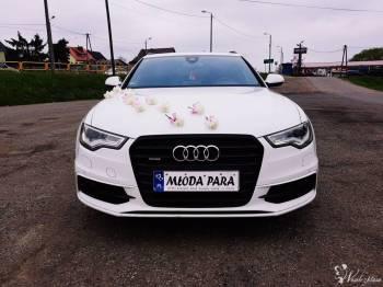 AUDI A6 *S-LINE* *BIAŁE* Exclusive - elegancko i z klasą do ślubu!!!, Samochód, auto do ślubu, limuzyna Włoszczowa