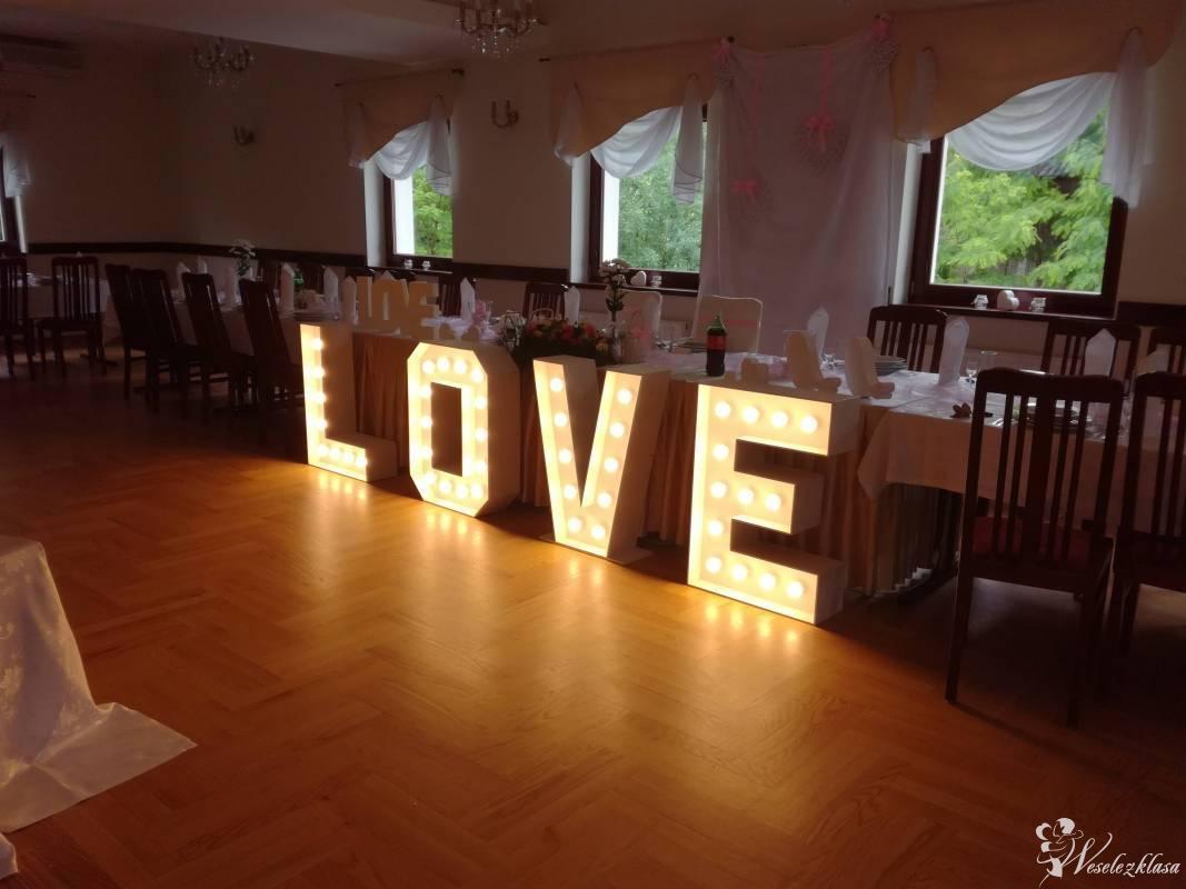 Napis LOVE , dekoracje ślubne , sal weselnych , balony z helem, Milicz - zdjęcie 1