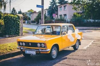 Piękny duży Fiat 125p z legenda PRL 1973 roku w kolorze Yellow Bahama!, Samochód, auto do ślubu, limuzyna Leszno