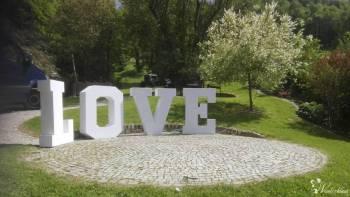 Świecący napis LOVE na wesele!, Napis Love Bielawa
