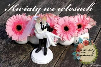 KWIATY WE WŁOSACH-*bukiety ślubne, dekoracje weselne, Dekoracje ślubne Zduńska Wola