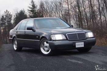 Czarny Mercedes S Klasa w 140 rok  s300 Do ślubu, Samochód, auto do ślubu, limuzyna Glinojeck