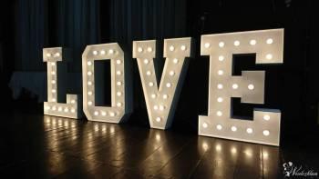 Wyjątkowy podświetlany napis LOVE. 150 cm , Napis Love Lublin