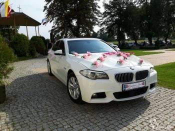 Białe BMW 5 F10 528 Biały Samochód Auto Limuzyna do Ślubu na Wesele, Samochód, auto do ślubu, limuzyna Magnuszew