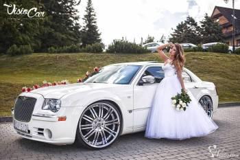 PIĘKNY CHRYSLER BIAŁY I CZARNY 5.7 HEMI V8 24, Samochód, auto do ślubu, limuzyna Alwernia