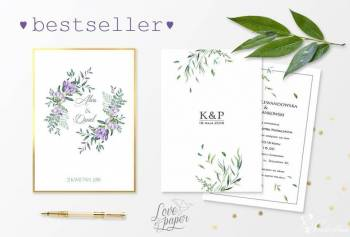 Love&Paper; Papeteria Ślubna, Zaproszenia ślubne Czarna Woda