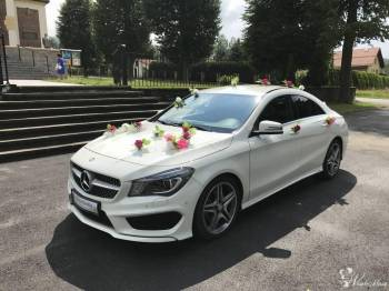Mercedes CLA AMG do ślubu i na wesele + wynajem Fotobudki!!, Samochód, auto do ślubu, limuzyna Nowy Wiśnicz