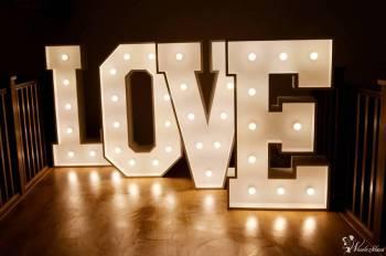 NAPIS LOVE NA WESELE, DEKORACJE ŚWIATŁEM, Napis Love Rzeszów