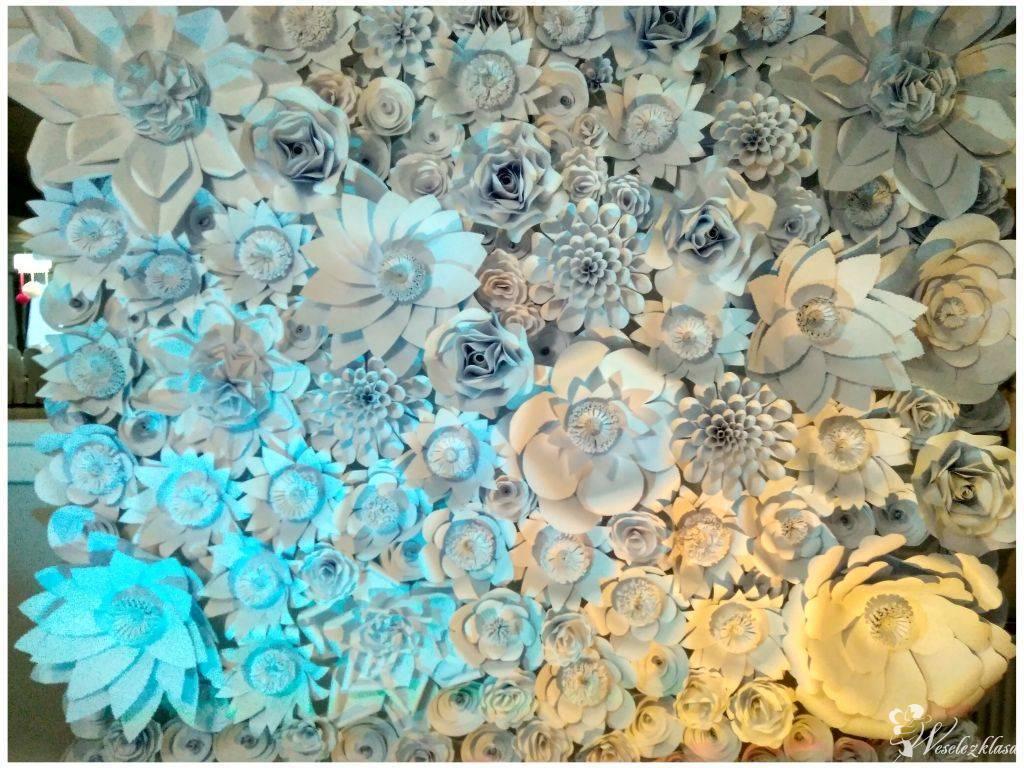 Ścianka/tło za stołem Pary Młodej - Paper Backdrop, Kalisz - zdjęcie 1