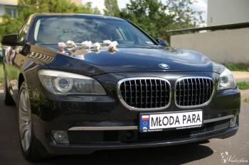 BMW 7 czarna limuzyna do ślubu, Samochód, auto do ślubu, limuzyna Rychwał