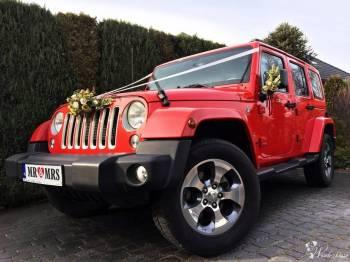 Auto do ślubu Jeep WRANGLER Kabriolet SUV 4x4 Czerwony Cabrio, Samochód, auto do ślubu, limuzyna Knurów
