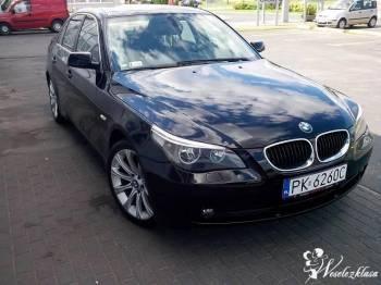 AUTO NA WESELE! PIEKNE *CZARNE* BMW E60 300PLN, Samochód, auto do ślubu, limuzyna Zduny