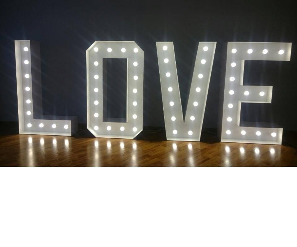 Napis LOVE podświetlany, duży 120 cm + Auto do ślubu, samochód- JAGUAR, Lublin - zdjęcie 1
