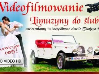 samochód do ślubu zdjęcia kamera DRON,  Sandomierz