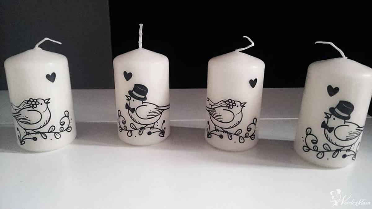 Wyjątkowe, piękne świece z dowolnym transferem, dekoracja sali, Chybie - zdjęcie 1
