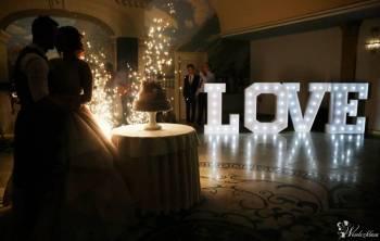 Napisy LOVE - duży podświetlany RETRO oraz mały DREWNIANY, Napis Love Pruszcz Gdański