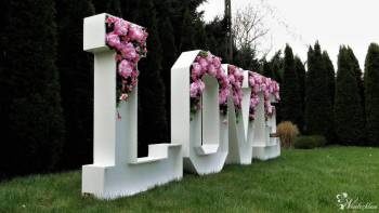 Kwiatowe LOVE Kwiatowy napis oryginalny kwiatowe litery od balonowe, Napis Love Wieliczka