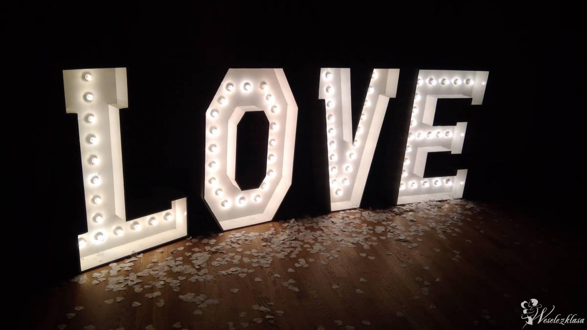 Podświetlany napis LOVE! Możliwy pakiet z Zaczarowaną Budką!, Kraków - zdjęcie 1