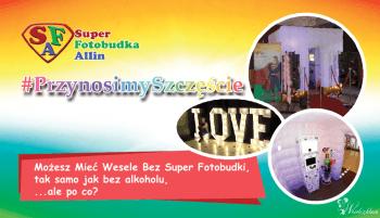 Super FOTOBUDKA Allin + Fotolustro + napis LOVE i MIŁOŚĆ + ciężki dym, Fotobudka, videobudka na wesele Sędziszów Małopolski