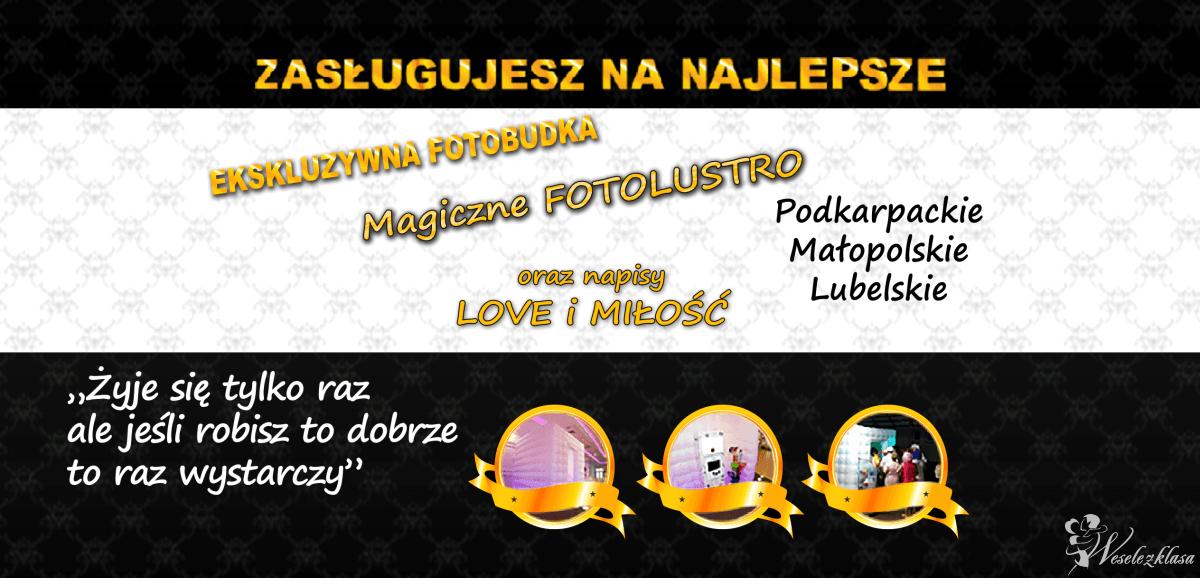 Fotobudka VIP / FotoLustro, napis LOVE / DYM /Zasługujesz na Najlepsze, Fotobudka, videobudka na wesele Rzeszów