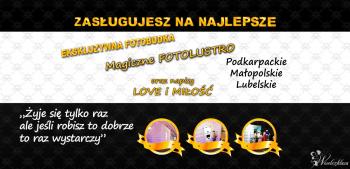 Fotobudka VIP / FotoLustro, napis LOVE / DYM /Zasługujesz na Najlepsze, Fotobudka, videobudka na wesele Lubaczów